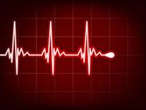 Cardiogram do coração com sombra nela profundamente - vermelho. EPS 8 Fotos de Stock Royalty Free