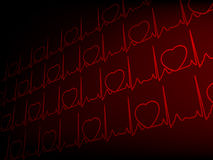 Cardiogram EKG. EPS 8 Royalty Free Stock Images