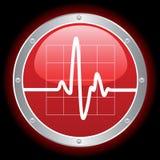Cardiogram elettronico illustrazione di stock