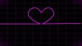 cardiogram Exhibición animada del ECG stock de ilustración