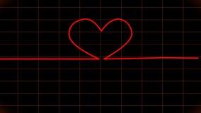 cardiogram Exposição animado do ECG video estoque