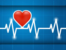 Cardiogram healthy heart. Heartbeat captured on cardiograph. Frequency, Wave Heart Royalty Free Stock Photos