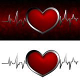 Cardiogram with heart Stock Image