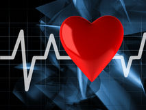 Cardiogram with heart Royalty Free Stock Photography