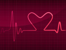 Cardiogram with heart Royalty Free Stock Photo