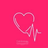 Cardiogram with heart Stock Photos