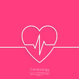 Cardiogram with heart Stock Images