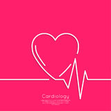 Cardiogram with heart Royalty Free Stock Images