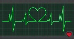 Cardiogram heart love Royalty Free Stock Photography
