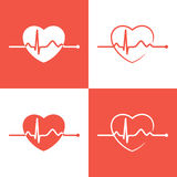 Cardiogram icons Royalty Free Stock Images