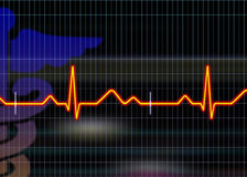 Cardiogram illustration Stock Image