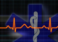 Cardiogram illustration Royalty Free Stock Image