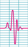 Cardiogram. Illustration of the cardiogram icon Royalty Free Stock Images