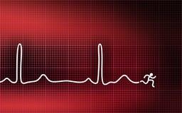 Cardiogram - laufender Mann Lizenzfreie Stockfotos