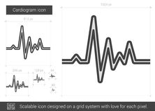 Cardiogram line icon. Stock Images