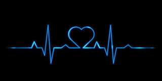 Cardiogram of love Stock Images
