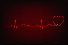 Cardiogram of love and health Stock Images