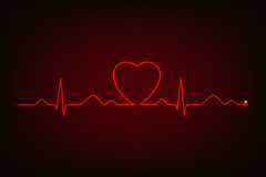 Cardiogram of love and health Stock Photo