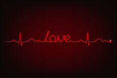 Cardiogram of love Royalty Free Stock Image