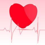 Cardiogram med hjärta. Royaltyfri Foto
