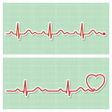 Cardiogram medical banners Royalty Free Stock Photos