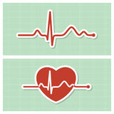 Cardiogram medical icons Stock Image