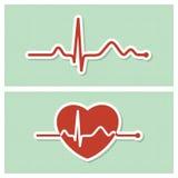 Cardiogram medische pictogrammen Stock Afbeelding