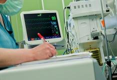 Cardiogram monitor operative room Stock Photo