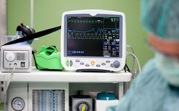 Cardiogram monitor surgery Stock Images