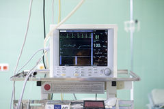 Cardiogram on operation room Royalty Free Stock Image