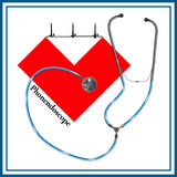 cardiogram Phonendoscopes Стоковые Фото