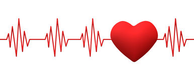 Cardiogram pulse trace Stock Photos