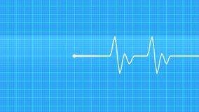 Cardiogram. Realistic indicators of human heartbeat