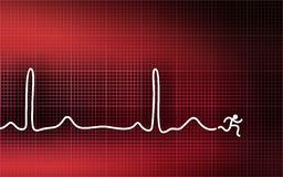 Cardiogram - running man Royalty Free Stock Photos