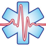 Cardiogram sulla traversa Fotografie Stock