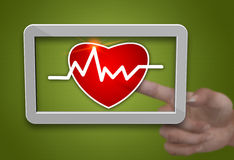 Cardiogram tablet Royalty Free Stock Photos