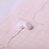 Cardiogram und Nitroglyzerin Lizenzfreie Stockfotografie