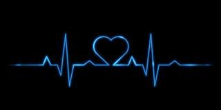 Cardiogram van liefde Stock Afbeeldingen