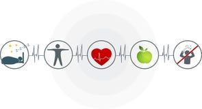 Cardiograma abstrato Fotografia de Stock Royalty Free