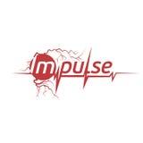 cardiograma abstrato da cor vermelha no logotipo branco do fundo Logotype do pulso Ícone médico Equipamento de esporte Foto de Stock Royalty Free
