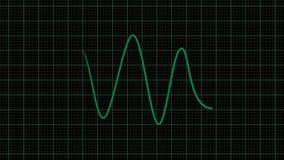 Cardiograma, animação do ecg no formato do png com canal ALFA da transparência ilustração royalty free