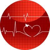 Cardiograma de la ilustración del vector del amor Fotografía de archivo