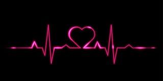 Cardiograma del amor Imágenes de archivo libres de regalías