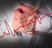 Cardiograma del ataque del corazón y de los golpes de corazón ilustración del vector