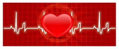 Cardiograma del corazón Imágenes de archivo libres de regalías