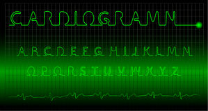 Cardiogramm Alphabet Stockfoto