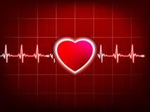 Cardiogramma astratto dei battiti cardiaci. ENV 10 Fotografia Stock Libera da Diritti
