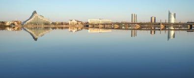 Cardiogramma del lato della riva sinistra di Riga Fotografie Stock Libere da Diritti