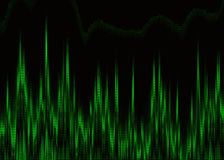 Cardiogramma verde del cuore sullo schermo di monitor Immagine Stock Libera da Diritti