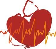 cardiogramme重点 库存照片